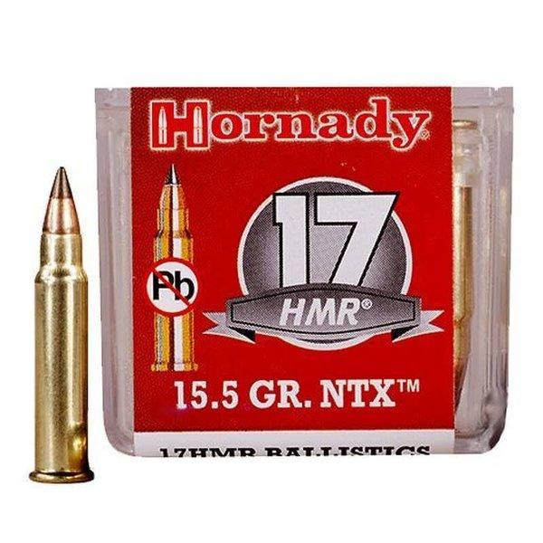 Hornady Ammo .17 HMR Hornady 15.5 Grain NTX Lead Free 2525 fps 50 Rounds 83171