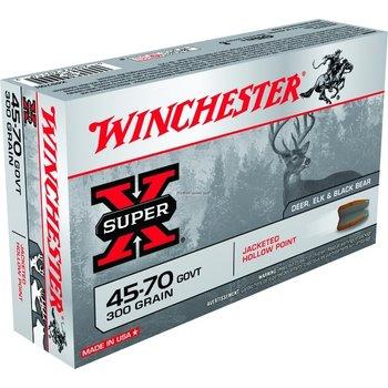 Winchester Super-X Ammo, 45-70 GOVT, JHP, 300 Grains, 1880 fps, 20, Boxed