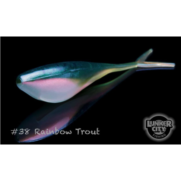 """Lunker City Fin-S Shad Rainbow Trout 1.75"""" 20-pk"""