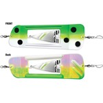 """Luhr Jensen Coyote Cyclone Flasher Size 0 Froggy Glow Moon Jelly 8.25"""""""