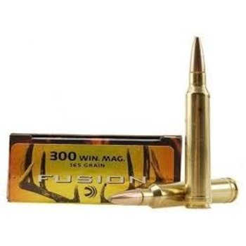 Federal Fusion Ammunition 300 Winchester Magnum 165 Grain Bonded Spitzer Boat Tail Box of 20