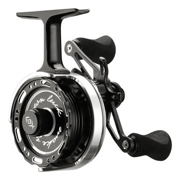 13 Fishing Black Betty 6061 Inline Ice Reel. LH