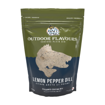 Outdoor Flavors Lemon Pepper Dill Seasoned Coating Mix