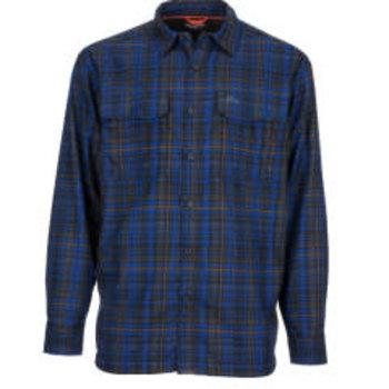 Simms M's ColdWeather LS Shirt XXL Rich Admiral Plaid