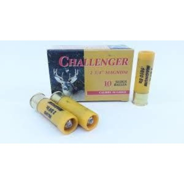 "Challenger Challenger Ammo, 20ga 2 3/4"" 7/8oz Rifled Slug"
