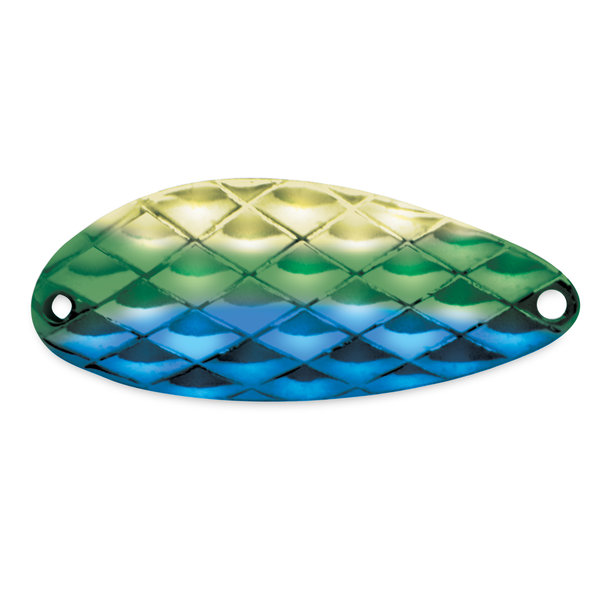 Acme Little Cleo 1/3oz Hammered Blue Green Gold