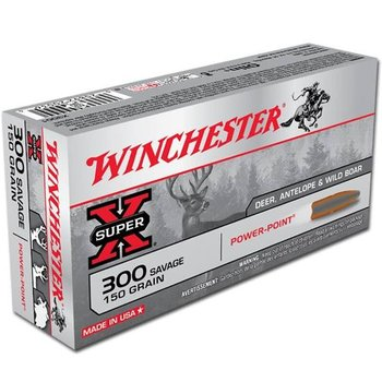 Winchester Super-X Ammo 300 Savage 150gr Power Point 2630fps 20 Rounds