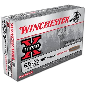 Winchester Super-X 6.5x55 140 GR Soft Point Ammunition