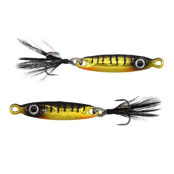 "Euro Tackle T-Flasher Yellow Perch 5/8oz 2.5"""