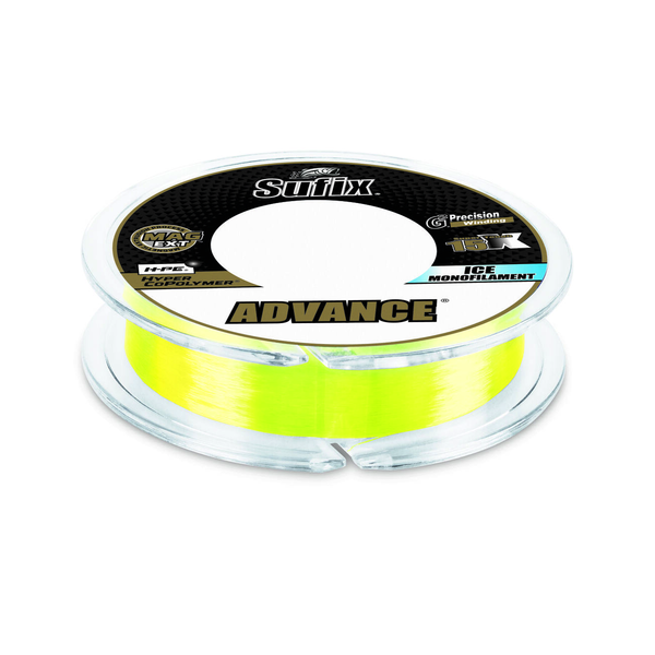Sufix Advance Ice Monofilament 10lb Neon Lime 100yds
