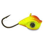 Acme Google Eye Tungsten Jig Orange Crush Size 5 #8 Hook