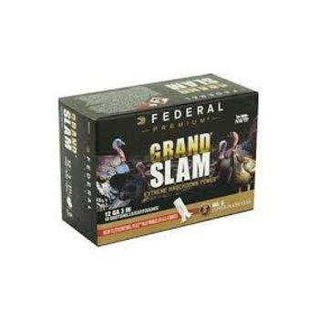 "Federal Grand Slam 12 Gauge Ammunition 10 Rounds 3"" Length #5 Copper Plated Lead 1-3/4 Ounce FlightControl Flex Wad 1200fps"