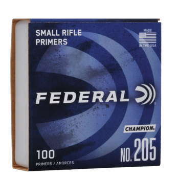 Federal #205 Small Rifle Primers 100 ct