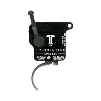 TriggerTech Remington 700 Special Adjustable (1.0 to 3.5 LBS) Single Stage Black Curved Trigger