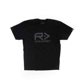 RahFish Big R Tee, Black/Charcoal, L