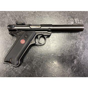 Ruger Mark IV Target 22 LR Blued Semi Auto Pistol