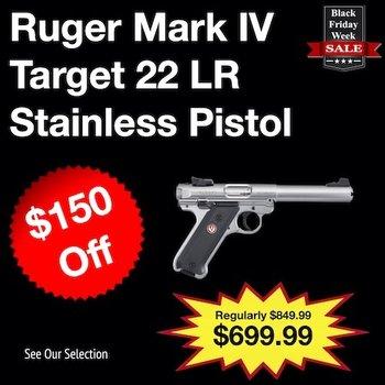 Ruger Mark IV Target Stainless 5.5″ 22LR Pistol