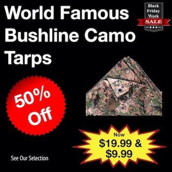 World Famous Bushline Camouflage Tarps