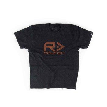 RahFish Big R Tee, Heather Grey/Orange, XL