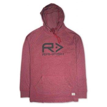 RahFish Big R Lightweight Hoodie, Heather/Burgandy, XL