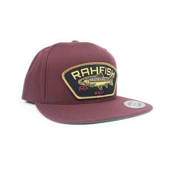 RahFish Brown Trout Snapback Cap, Burgundy