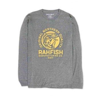 RahFish Johnny Fisher Long Sleeve Shirt, Graphite, XXL