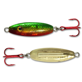 Northland Buck-Shot Rattle Spoon. 3/8oz Golden Perch