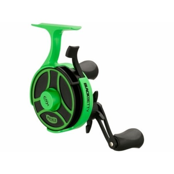 13 Fishing BBFFGWRP2.5-LH Black Betty Free Fall Ghost Ice Reel - Radioactive Pickle - 2.5:1 - Left Hand