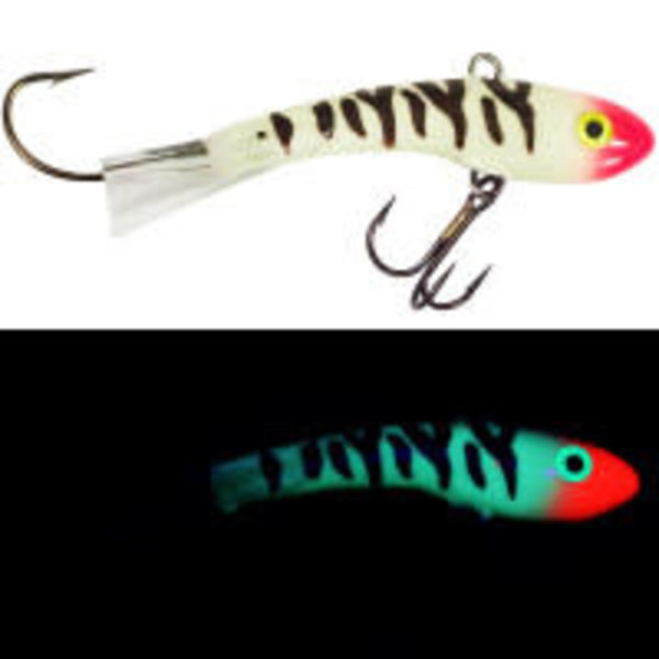 Moonshine Lures Shiver Minnow #2.5 Glow Bloody Nose
