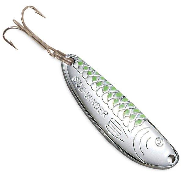 Acme Sidewinder 1/3oz Spoon. Nickel /Chartreuse Stripe