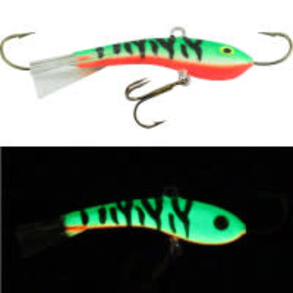 Moonshine Lures Fat Bottom Shiver Minnow #2.5 Glow Perch