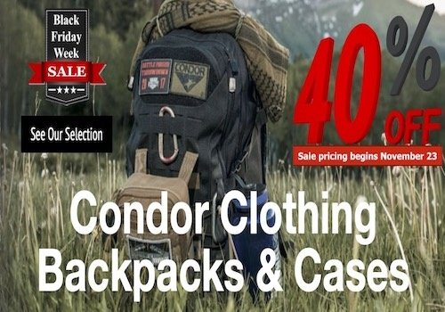 Condor Clothing, Backpacks & Cases