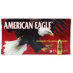 Federal American Eagle Ammo, 9mm Luger 115gr Full Metal Jacket 50rds