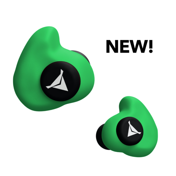 Decibullz Custom Molded Earplugs, Green