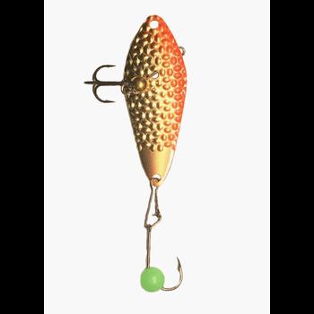 Freedom Hammered Minnow Spoon 3/8oz Gold Orange
