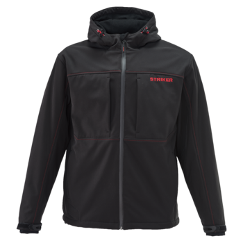 Striker Ice Rival Hooded Softshell Jacket Black XL