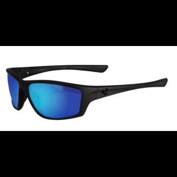 SpiderWire SPW008 Polarized Sunglasses. Matte Black/Smoke/Blue Mirror SPW008BLKSMKBLU