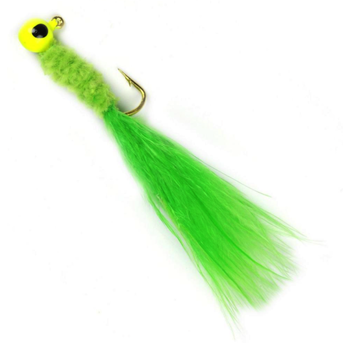 Johnson Beetle Bou Chartreuse 1/32oz Jigs. 10-pk