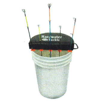 HardWater Tackle Bucket Seat w/Rod Holders