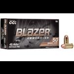 CCI Blazer Brass 45 ACP 230gr FMJ Ammunition 50 Rounds