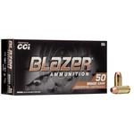 CCI Blazer Ammo 40 S&W 180gr FMJ 50 Rounds