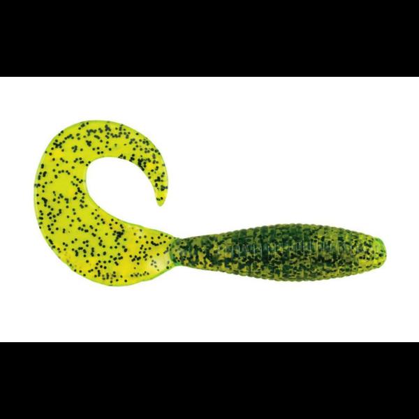 "PowerBait Power Grub 4"" Chartreuse Pepper 10-pk"