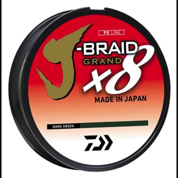 Daiwa J-Braid X8 Grand 20lb 150yd Dark Green