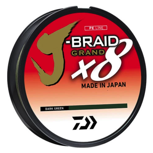 Daiwa J-Braid X8 Grand 50lb 150yd Dark Green