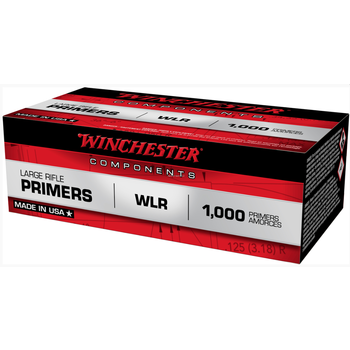 Winchester WLR #8-1/2 - 120 Large Rifle Primers, 100 Primers Per Tin