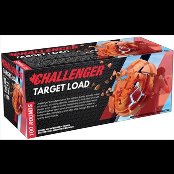 Challenger Ammo 43028 Target Load 100 Round Pack, 12 GA, 2-3/4 in, No. 8, 3 Dram, 1-1/8 oz, 1200 Fps
