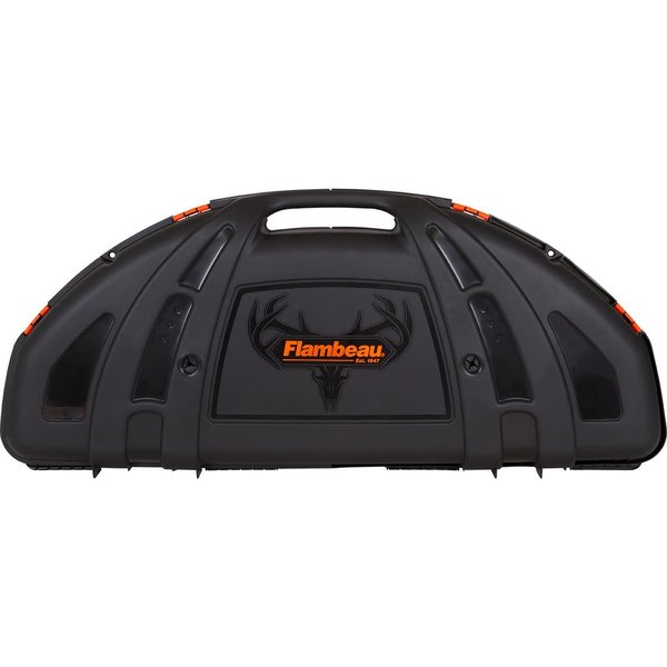 Flambeau 6460SC Hard Bow Case 6 Pack, Compound Bow 12 Arrow Rubber Racking System, Black