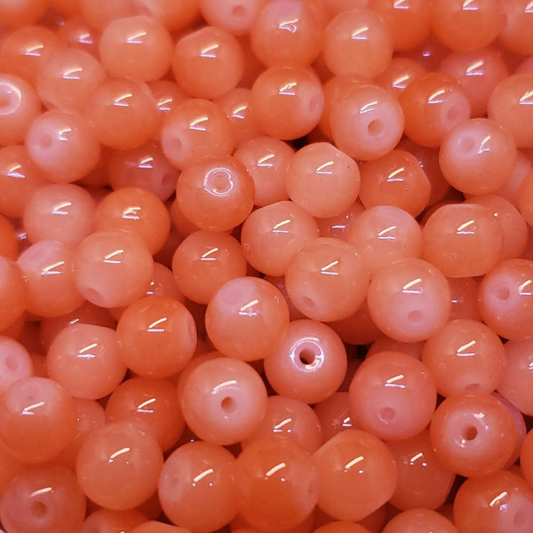 Creek Candy Beads 10mm Peach Jello #177