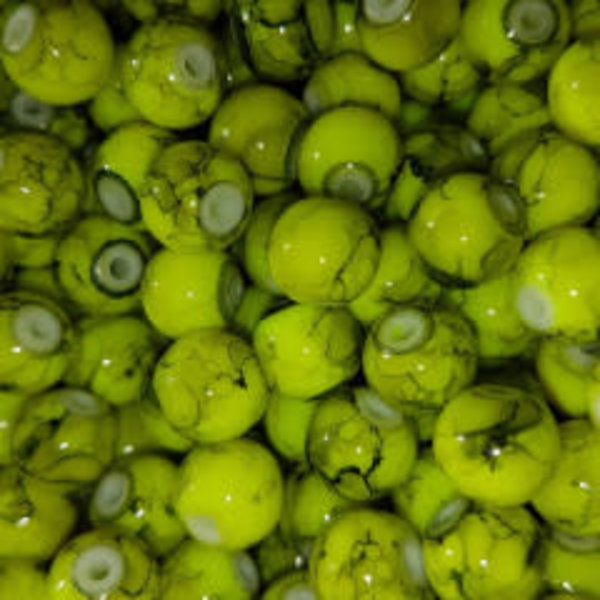 Creek Candy Beads 10mm Toxic Chartreuse #123