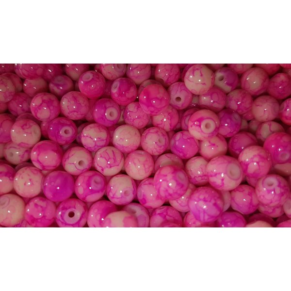 Creek Candy Beads 8mm Toxic Pink #101